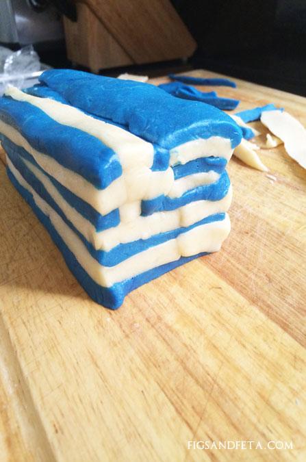 Greek Flag Lemon Sugar Cookies Figs Amp Feta